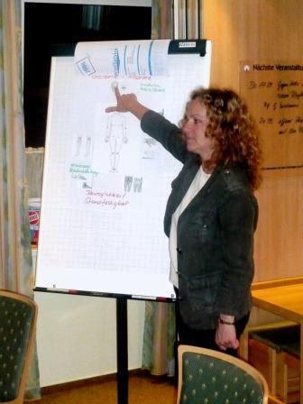 Jaqueline Thomas bei ihrem Vortrag