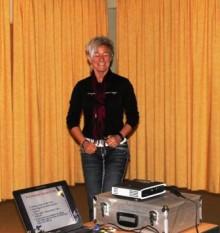 Heike Erhardt bei ihrem Vortrag