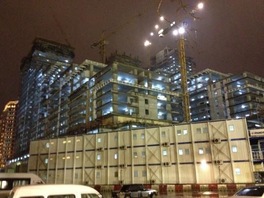 Großbaustelle am Hafen